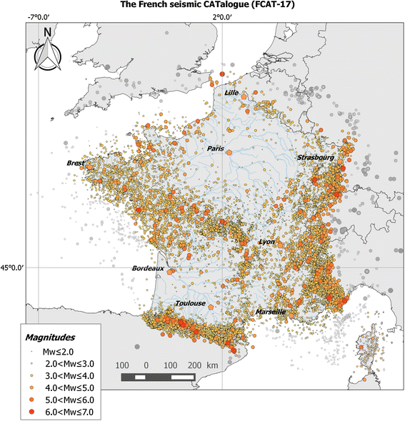 FCAT17: French catalogue of seismicity